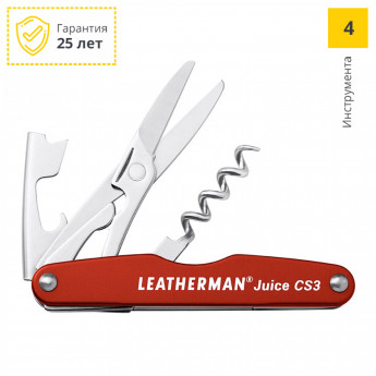 Мультитул LEATHERMAN JUICE CS3 CINNABAR ORANGE 832369