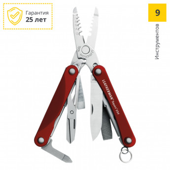 Мультитул LEATHERMAN SQUIRT ES4 RED 831236