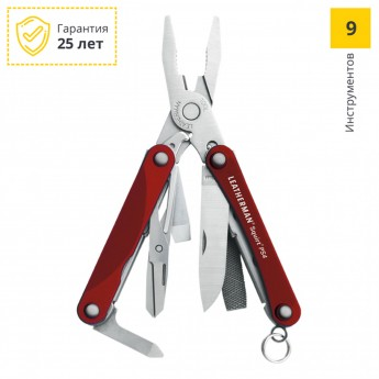 Мультитул LEATHERMAN SQUIRT PS4 RED 831227